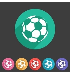 Football soccer icon flat web sign symbol logo vector