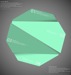 Infographic template with blue octagon randomly vector