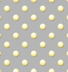 Pearl seamless patrn with realistic pearls pearl vector