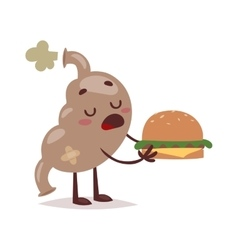 Fast food stomach vector