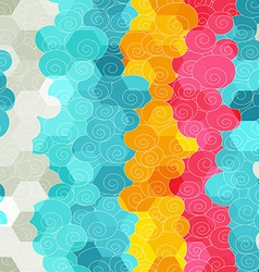 Abstract color circle seamless pattern vector