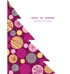 abstract textured bubbles Christmas tree vector image vector image