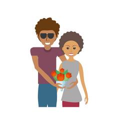 Afroamerican couple romantic image vector