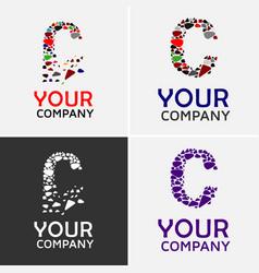 alphabet c logo design vector image