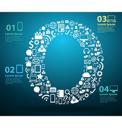 Application icons alphabet letters O design vector image