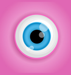 Background with cartoon monster eye in pink colors vector