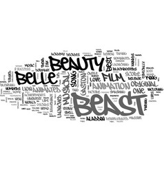 Beauty and the beast dvd review text word cloud vector