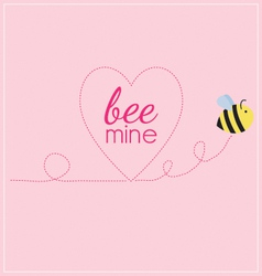 Bee mine heart vector
