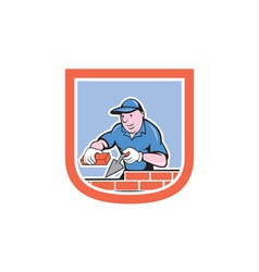 Bricklayer mason plasterer worker cartoon vector