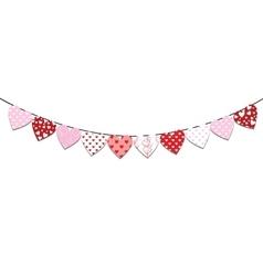 Bunting valentine decoration vector
