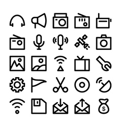 Communication icons 4 vector