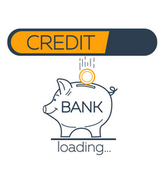 concept of repayment bank vector image