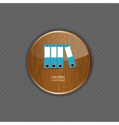 Folders wood application icons vector image vector image