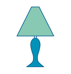house lamp isolated icon vector image vector image