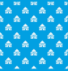 house with broken windows pattern seamless blue vector image