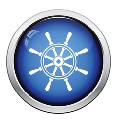 Icon of steering wheel vector image vector image