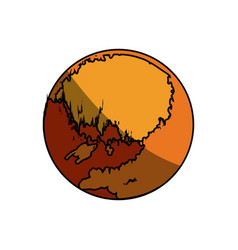 Jupiter planet isolated vector