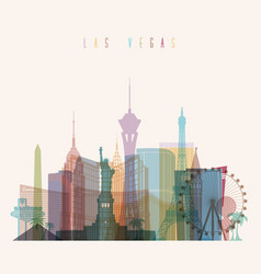 las vegas state nevada skyline detailed silhouette vector image
