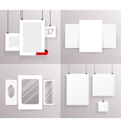 Mock Up Set Frames Boxes Paper Big Little vector image vector image