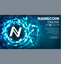 namecoin abstract technology background vector image vector image