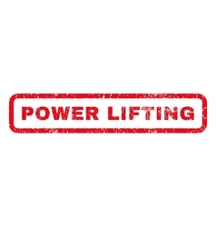 Power Lifting Rubber Stamp vector image vector image