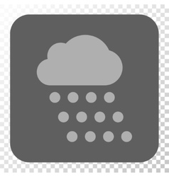 Rain Cloud Rounded Square Button vector image vector image