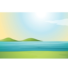 River and hills vector