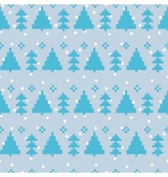 seamless pattern with New Year 8 bit trees vector image vector image