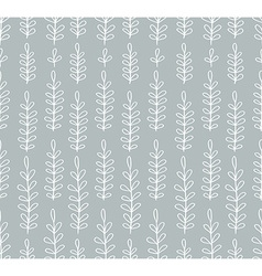 Seamless simple floral pattern vector image vector image