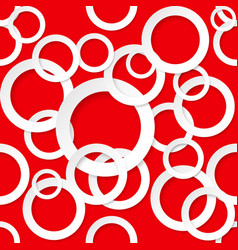 Seamless texture circles on red background vector