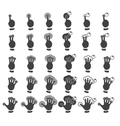 Set of multitouch gestures vector image vector image