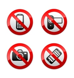 Set prohibited signs - gadget vector