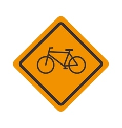 Sign icon bicycle road design vector