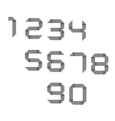 Simple set of origami numbers vector