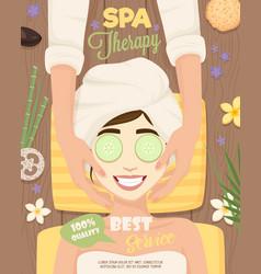 Spa skincare routine poster vector