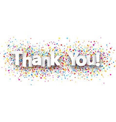 Thank you paper banner vector image
