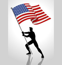 The united states of america flag bearer vector