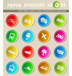 Transport types icon set vector