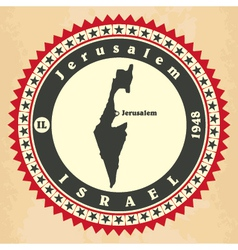 Vintage label-sticker cards of Israel vector image