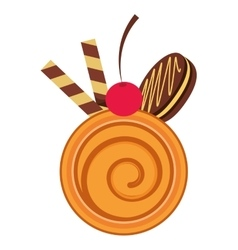 Sweet delicious cookie isolated icon vector