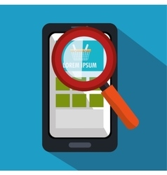 Smartphone cyber monday searching shopping vector
