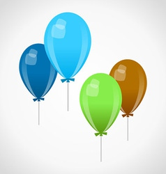 Decoration balloons vector