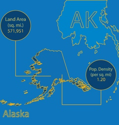 Alaska 3d info graphic vector