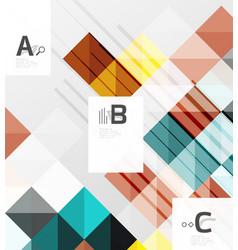modern geometrical square banner minimalistic vector image