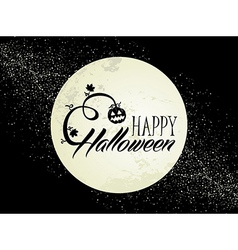 Happy Halloween full moon and pumpkin EPS10 file vector image
