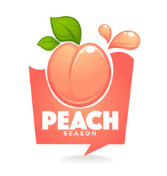 sweet peach season label or sticker looks like a vector image
