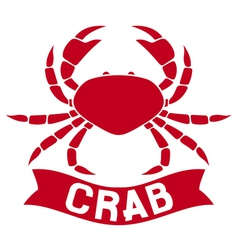 Crab label vector