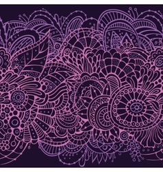 Endless pattern with flowers vector