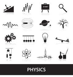 Physics icons set eps10 vector