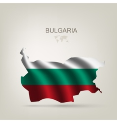 Flag of bulgaria as a country vector